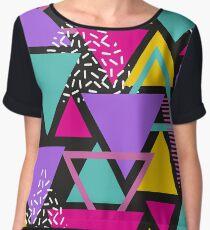 Memphis Triangles Women's Chiffon Top