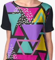 Memphis Triangles Chiffon Top