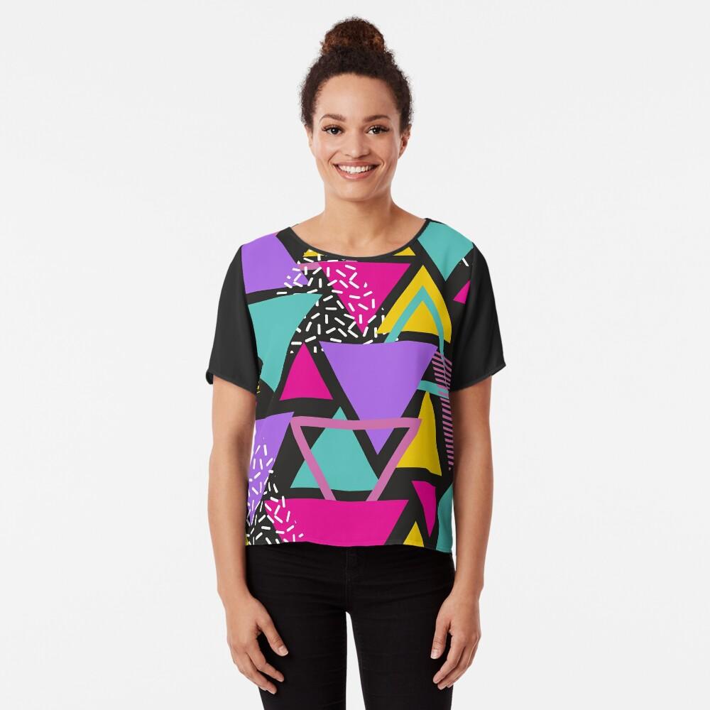 Memphis Triangles Chiffon Top