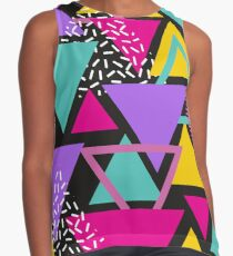 Memphis Triangles Contrast Tank