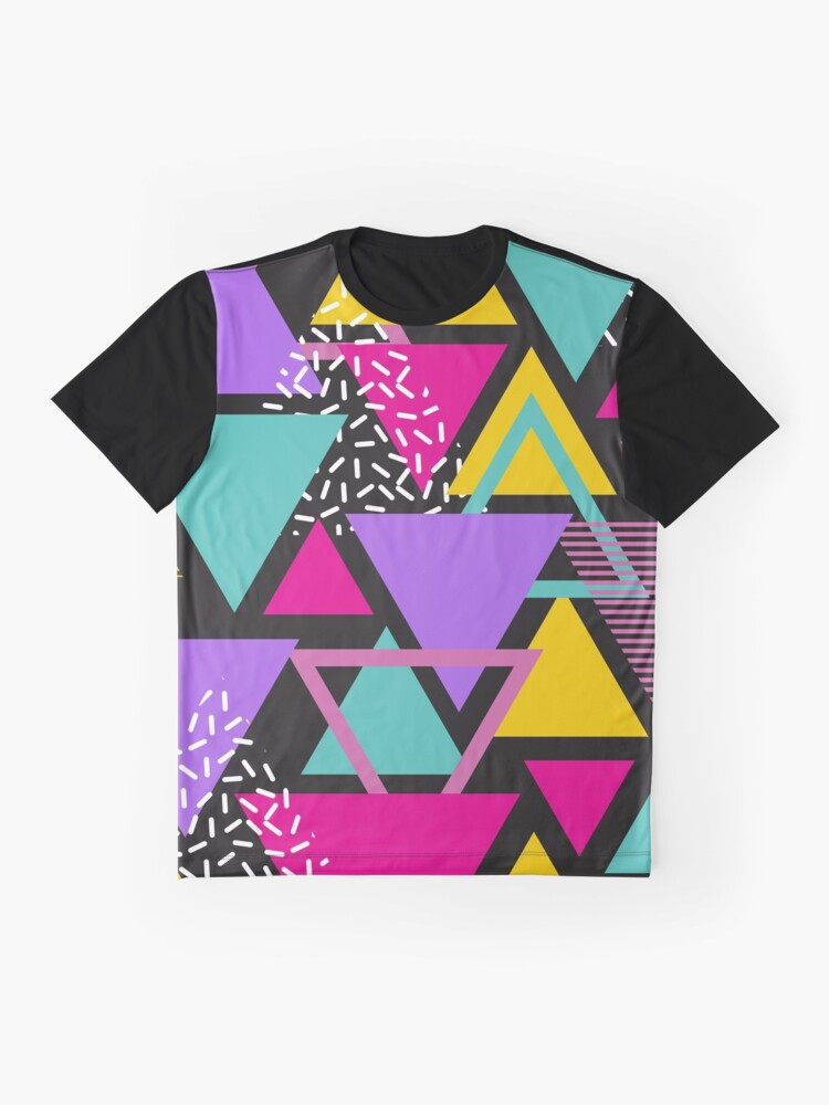 Alternate view of Memphis Triangles Graphic T-Shirt