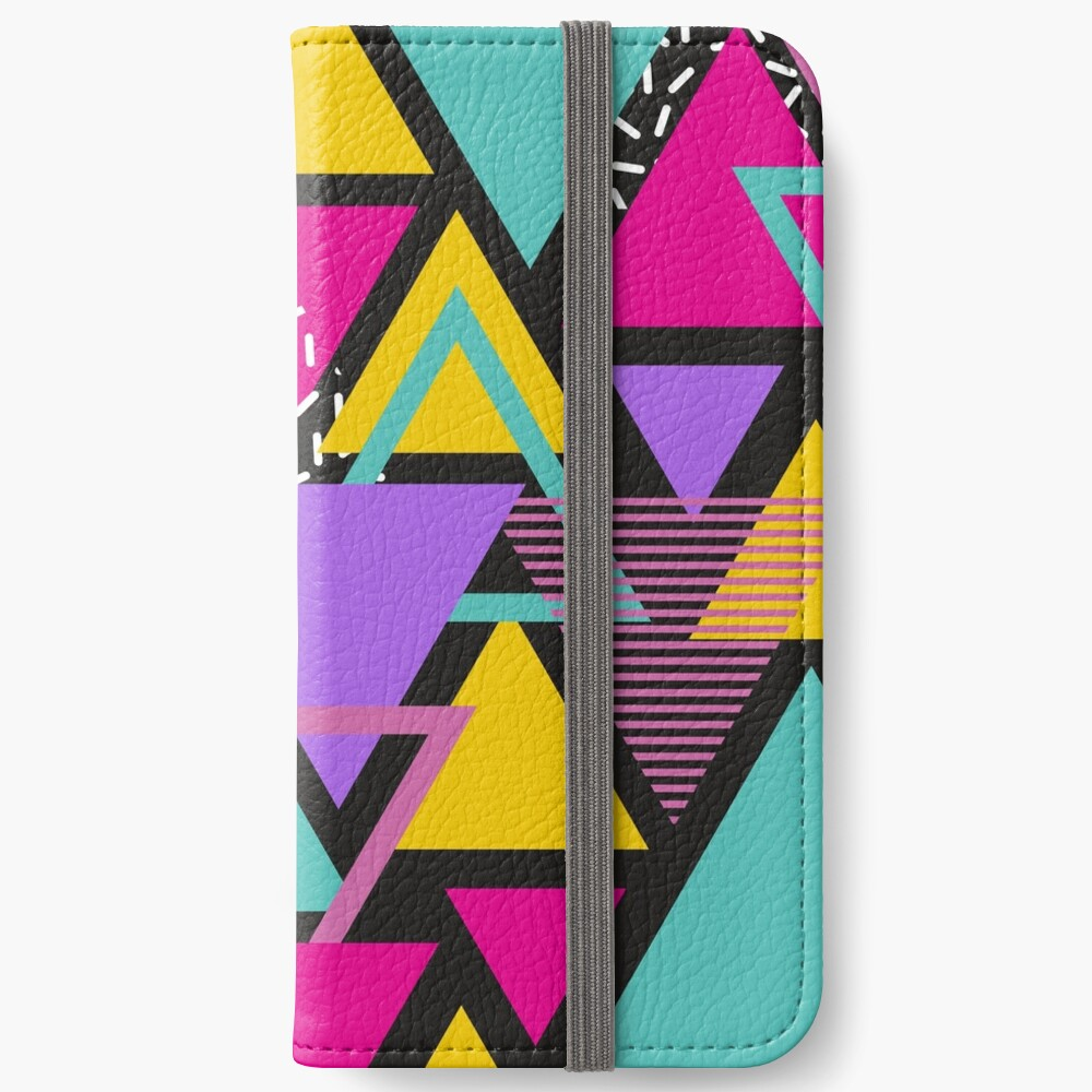 Memphis Triangles iPhone Wallet