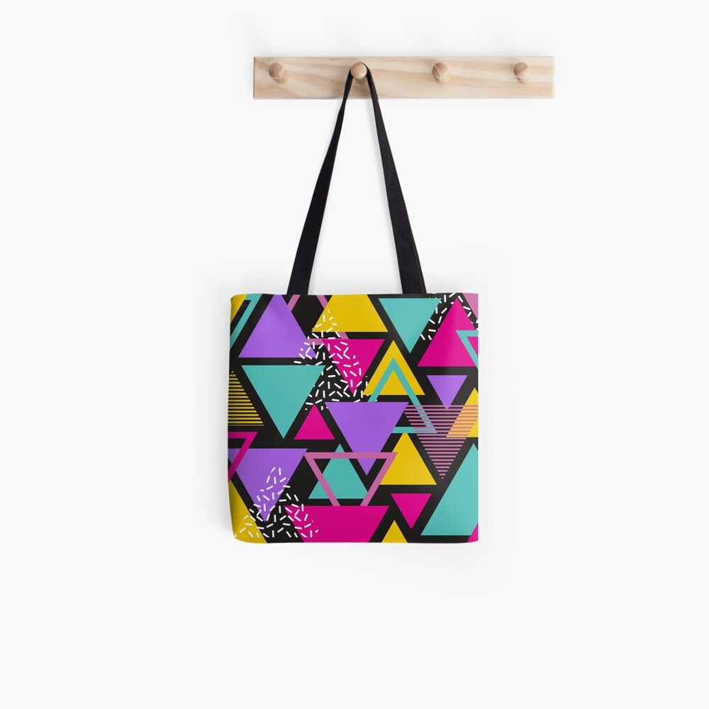 Memphis Triangles Tote Bag