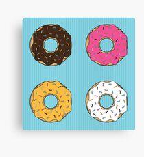 Tasty Donuts Pattern Canvas Print