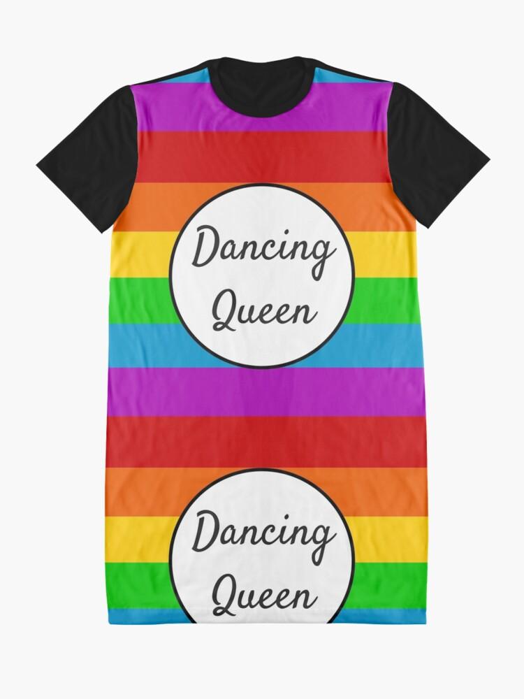 Alternate view of Dancing Queen ~ Rainbow Graphic T-Shirt Dress