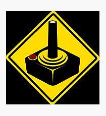 Gamer warning sign Photographic Print