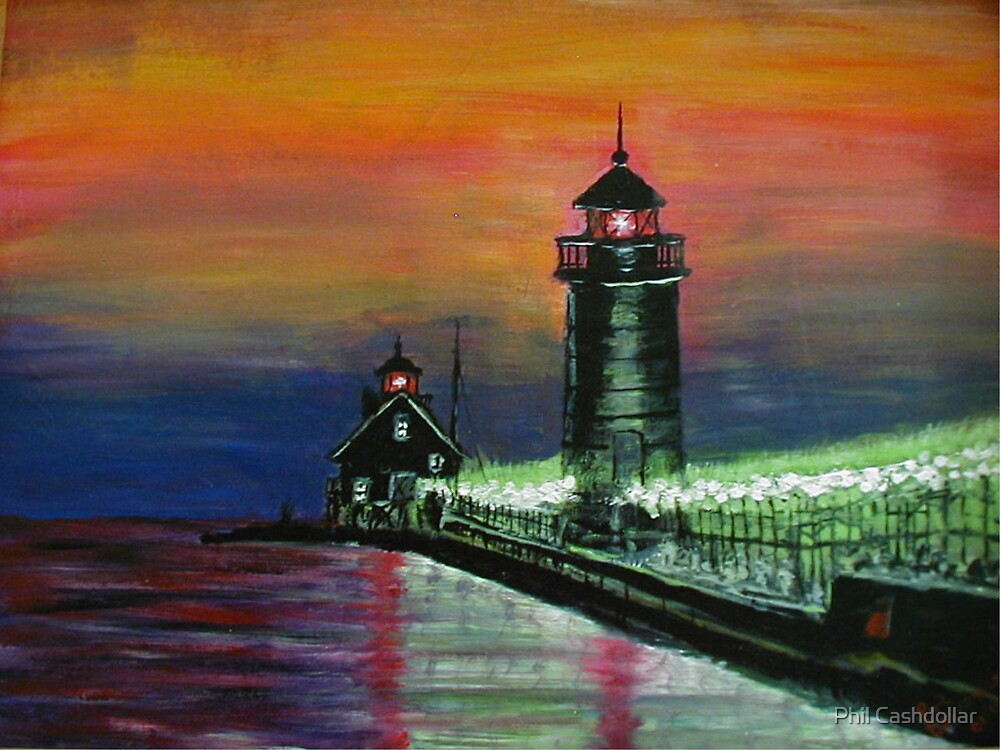 Evening at the Pier by Phil Cashdollar