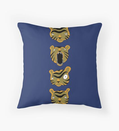 Tiger Buttons Throw Pillow