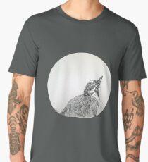 Magpie Lark Print Oriental Zen Minimalist - Sumie ink australian bird Men's Premium T-Shirt