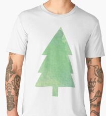 Simple Pine Tree Forest Pattern Men's Premium T-Shirt