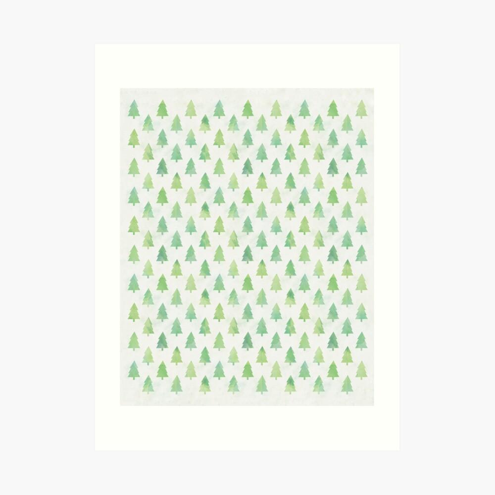 Simple Pine Tree Forest Pattern Art Print