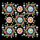 Millefiori Pinwheel by PatriciaSheaArt