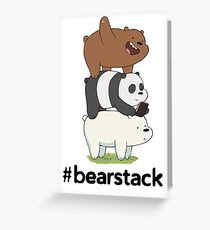 Bearstack Greeting Card