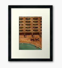 Hotel Pool Framed Print
