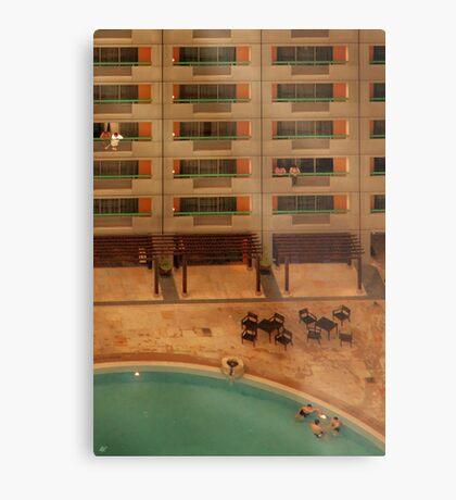 Hotel Pool Metal Print