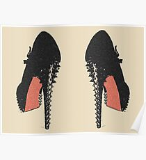Fetish spiked high heels, black and red colors Poster