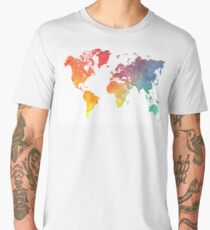 Map of the world colored Men's Premium T-Shirt