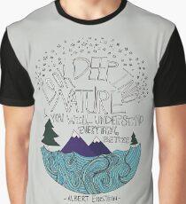 Einstein: Natur Grafik T-Shirt