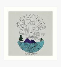 Einstein: Nature Art Print