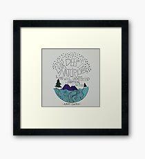 Einstein: Nature Framed Print