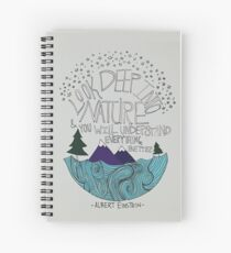 Einstein: Nature Spiral Notebook
