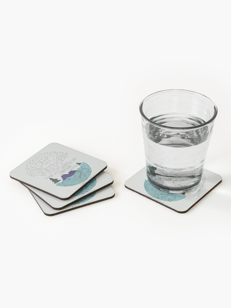 Alternate view of Einstein: Nature Coasters (Set of 4)