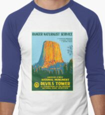 Travel Poster - Devil's Tower, the First National Monument T-Shirt