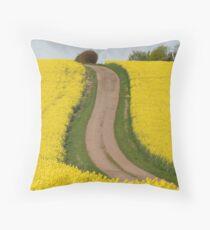 Track Through Yellow Throw Pillow