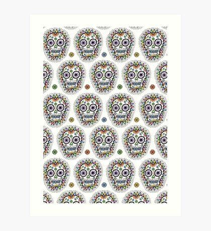 sugar skull hero Art Print
