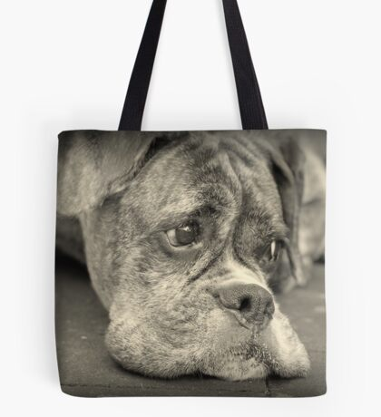Luthiens Porträt in Monochrom - Boxer Dog Series Tote Bag