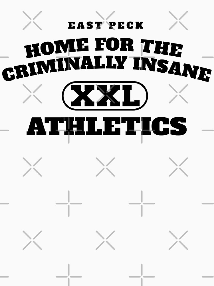 East Peck Home For The Criminally Insane Athletics (Black) by RoufXis
