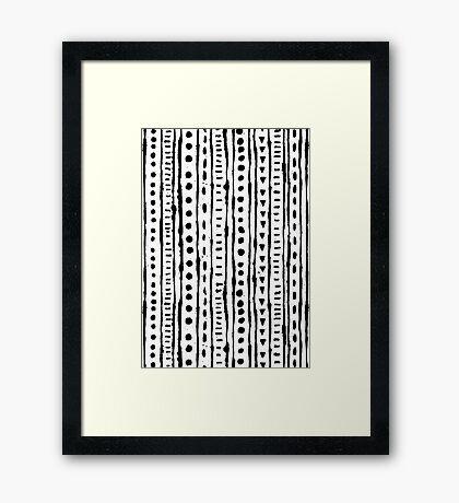 Ink Stripe Framed Print