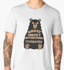 BEAR GREAT SMOKY MOUNTAINS NATIONAL PARK TENNESSEE EXPLORE NATURE Men's Premium T-Shirt
