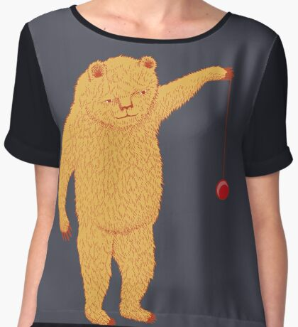 Bear with Yoyo Skills Women's Chiffon Top