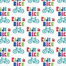 Ride a Bike Sketchy white  by Andi Bird