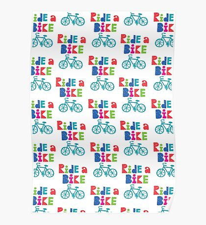 Ride a Bike Sketchy white  Poster