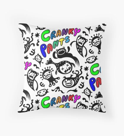 Cranky Pants Throw Pillow