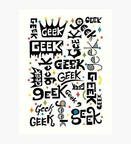Geek Words Art Print
