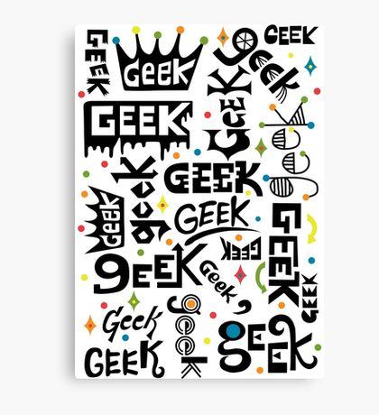 Geek Words Canvas Print