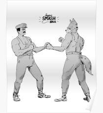 Old Timey Smash Bros Poster
