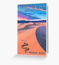 Travel Poster - Death Valley National Park Greeting Card