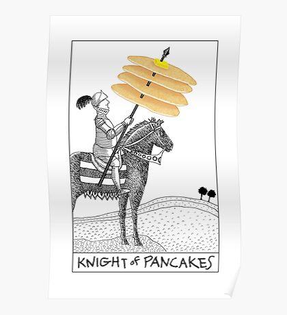 Knight of Pancakes Breakfast Tarot Poster