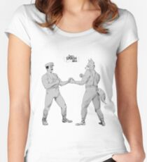 Old Timey Smash Bros Women's Fitted Scoop T-Shirt