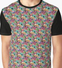 90's Cartoon Pattern Graphic T-Shirt