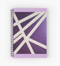 Purple Lines Spiral Notebook