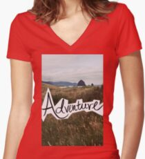 Adventure Women's Fitted V-Neck T-Shirt