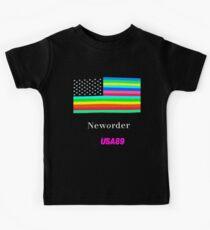 Joy Division New ORDER Technique EP 1989 Flag tour Promo Shirt Kids Tee