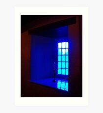 Blue Paned Window Art Print
