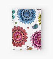 Flowers of Desire white Hardcover Journal