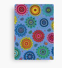 Flowers of Desire blue Canvas Print